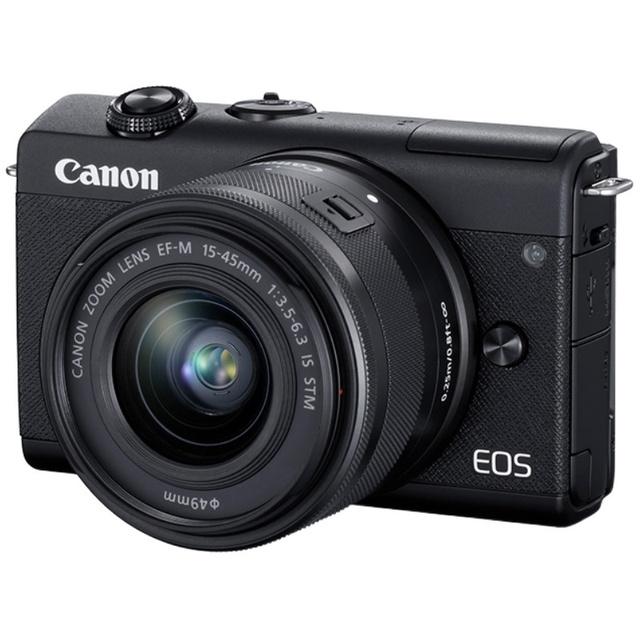Canon/佳能EOS M200微单15-45套机入门级高清Vlog家用相机旅游4K摄像便携美颜自拍eosm200学生数码照相机M100