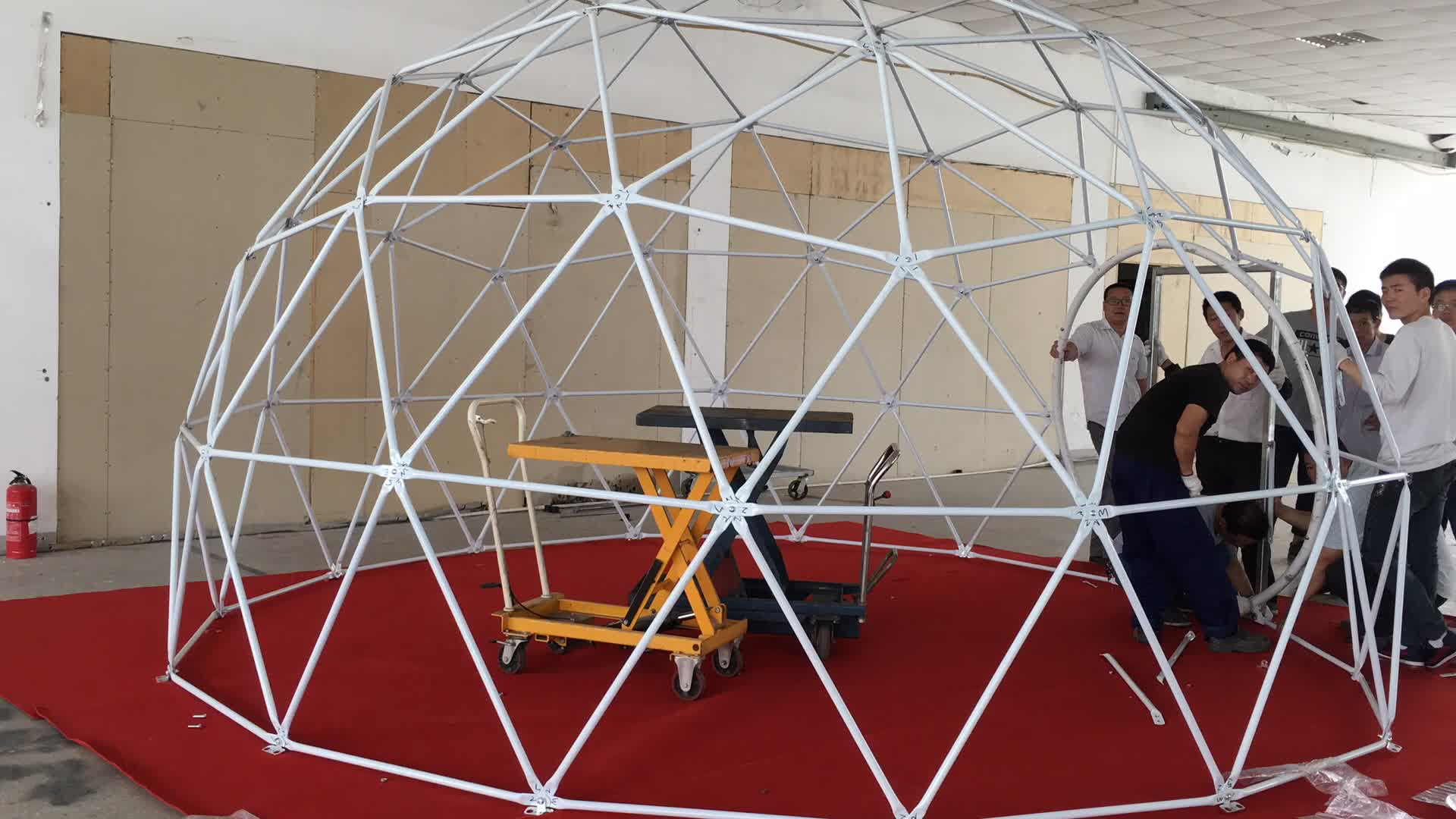 8m diameter heavy duty geodesic dome tent for sale