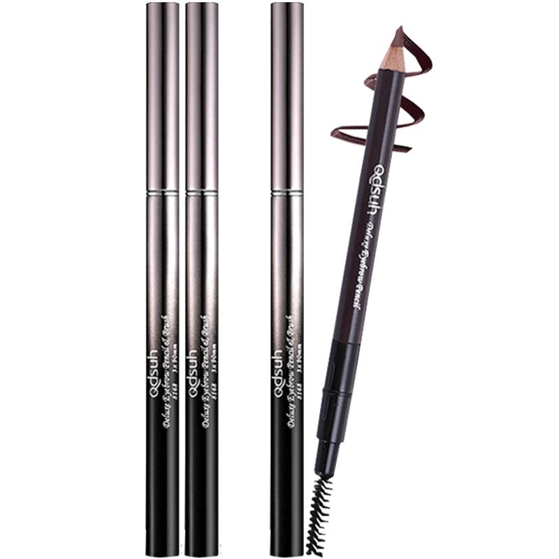 巧迪尚惠眉笔防水防汗不易脱色自然双头画眉铅笔一字眉初学者可削