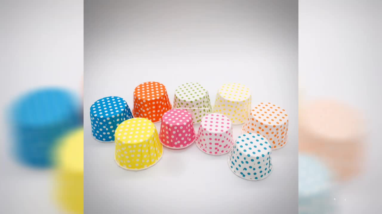 Colorful disposable wholesale good quality muffin baking paper souffle portion cups