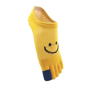 蓝姿欣女士纯棉短统中筒可爱五指袜