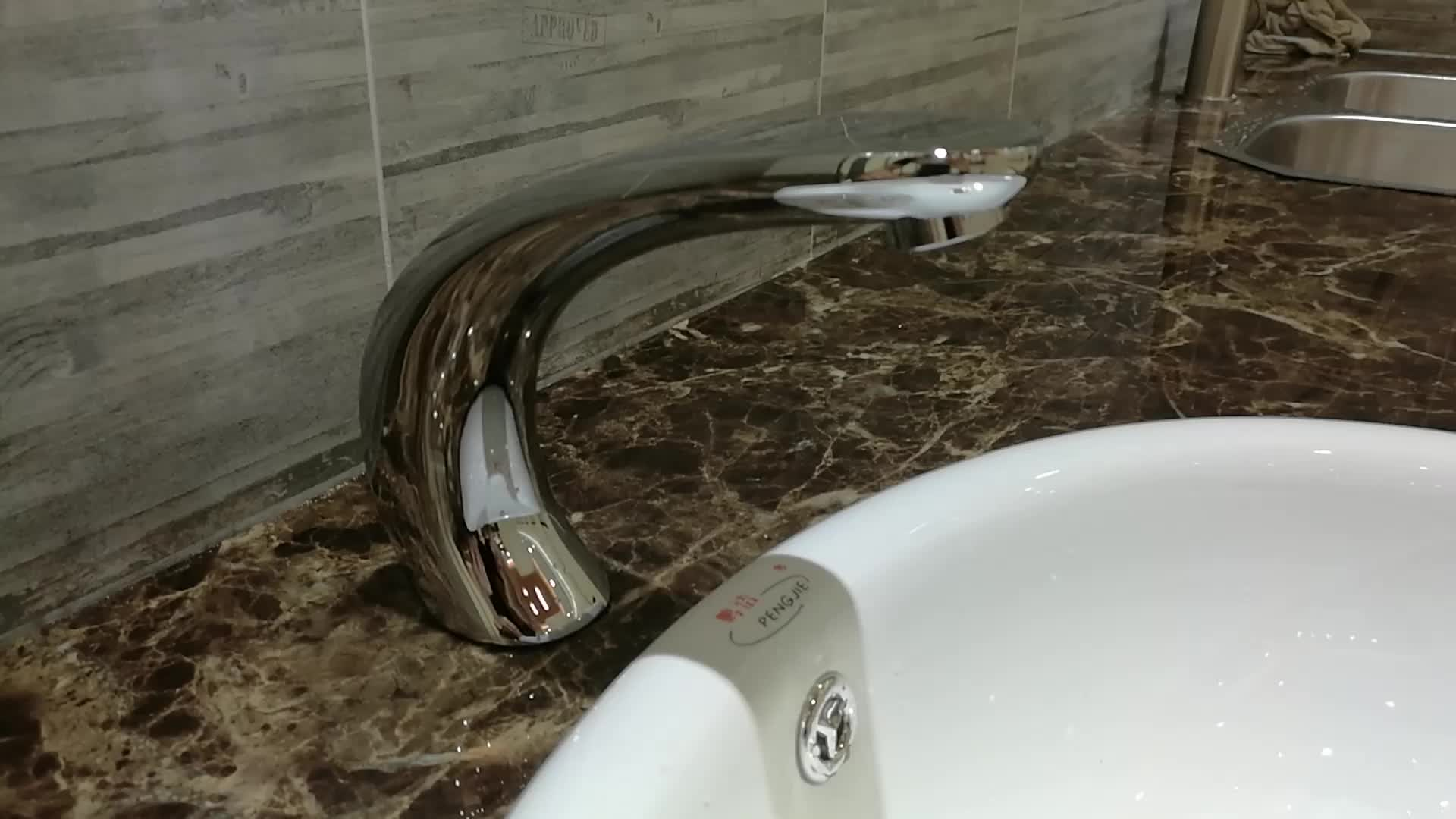 Electronic Touch Automatic Sensor Bathroom Kitchen Water Faucet ...