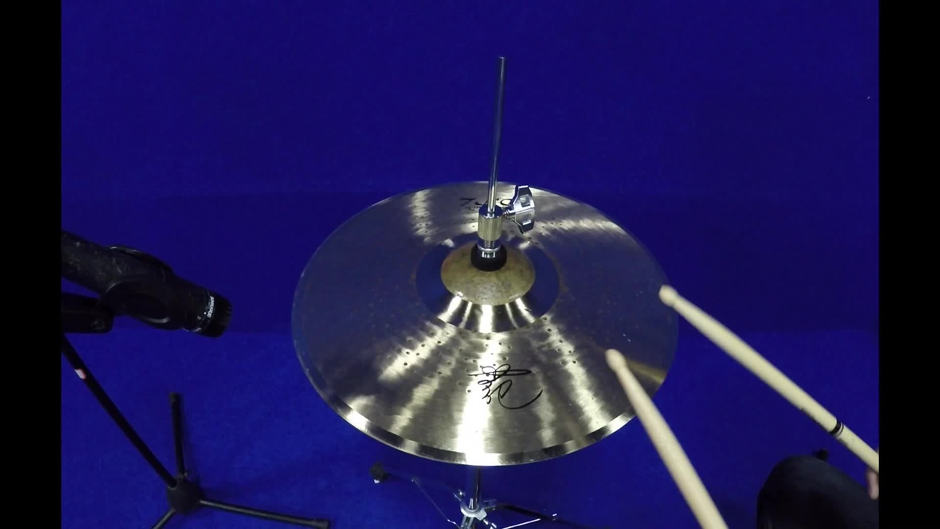 Oem professional handmade 14 inch pair cymbals on cymbal stand