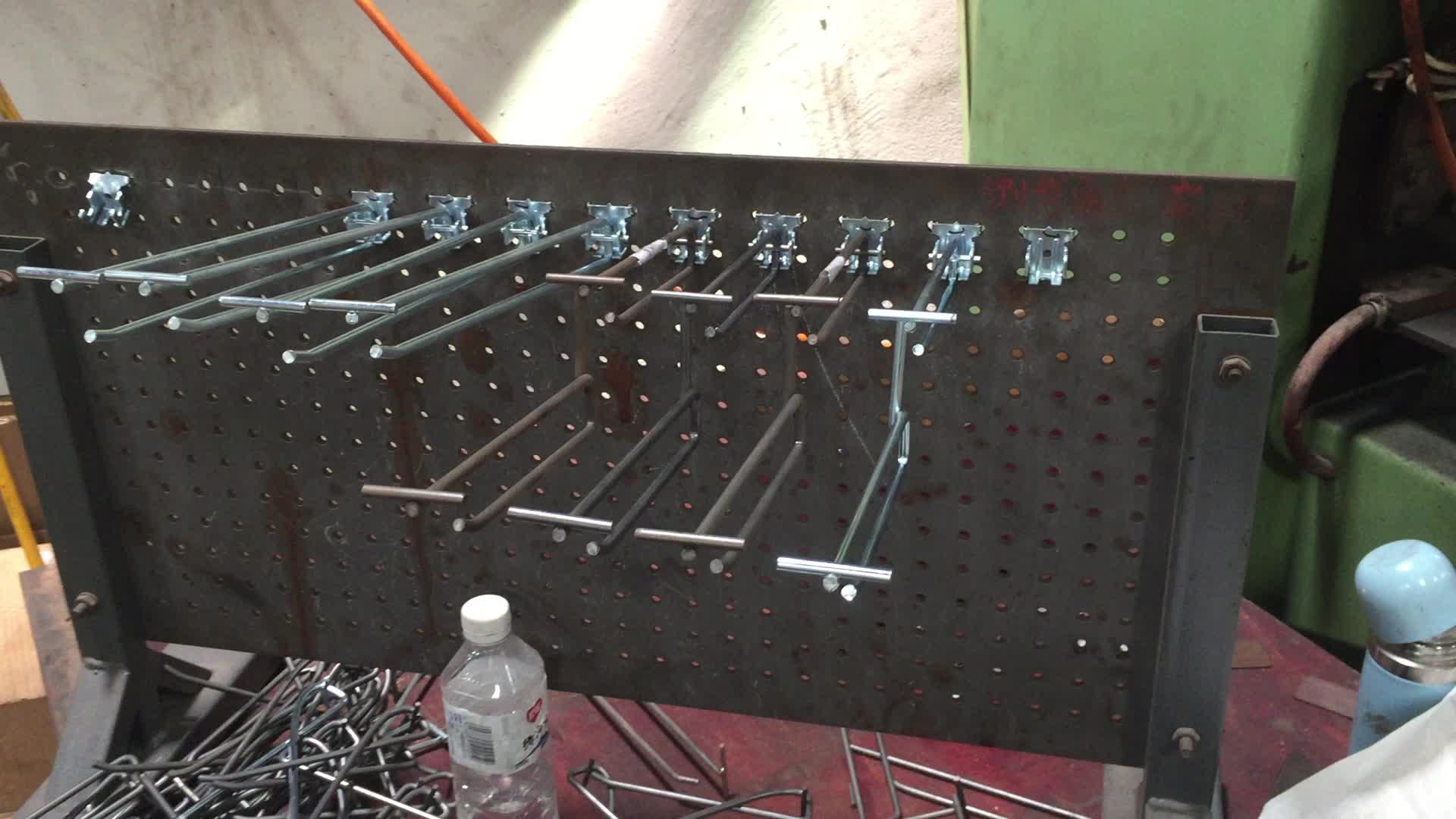 Good Design Metal Wire Hanging Display Pegboard Hooks Display Hook ...