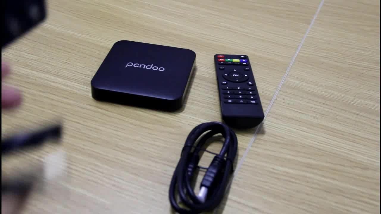2019 Best price of pendoo RK3328 2G16G remote control app for android tv box OEM ott 7.1
