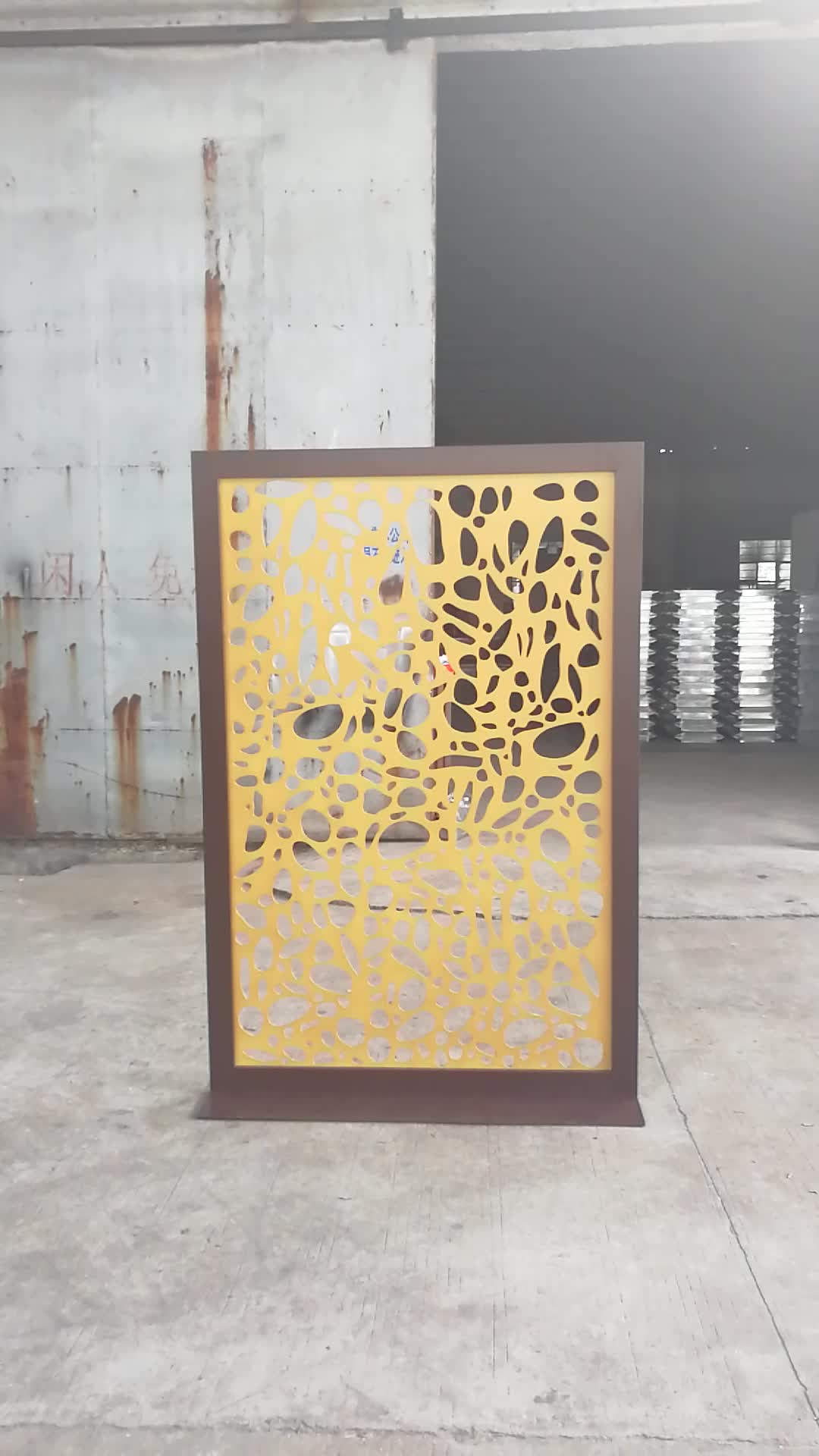 Hot Sale Room Partition Folding Laser Cut Divider