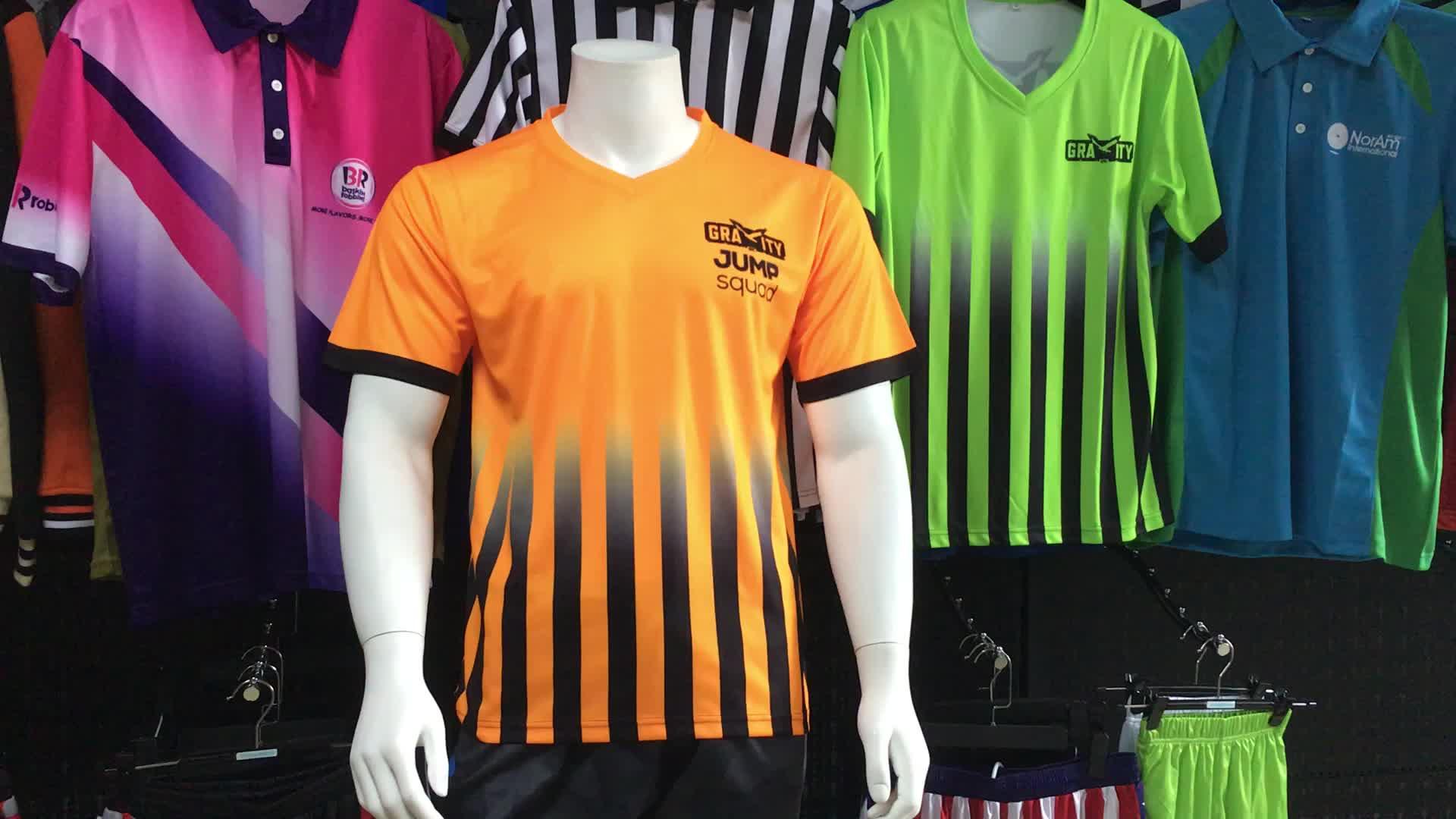 Färben Sie Sublimationspolyestergolfpoloshirts / Mans kundengebundenes Golfpolo Jersey / volles Drucken Stickereigolfpolo-Kleid