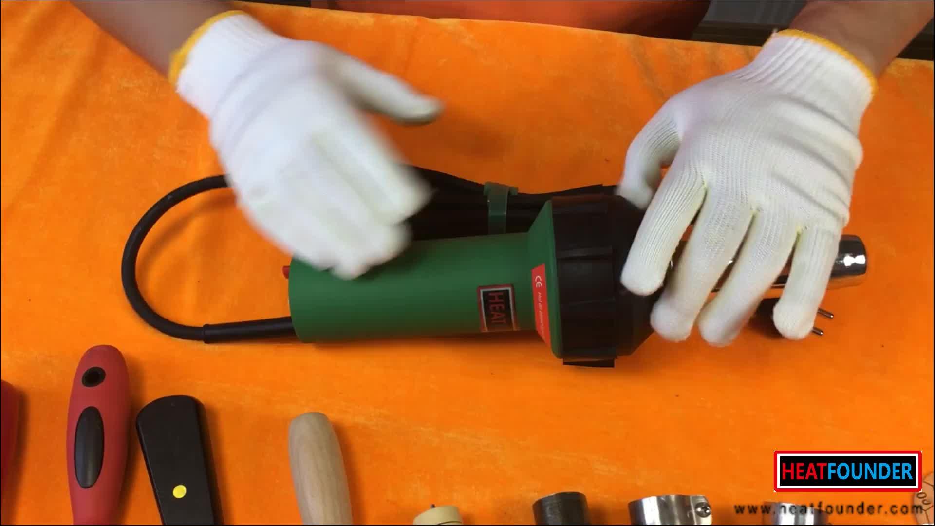 Adapté aux besoins du client industriel mini pistolet à air chaud électrique tenu dans la main pistolet à souder à air chaud industriel décapeur thermique