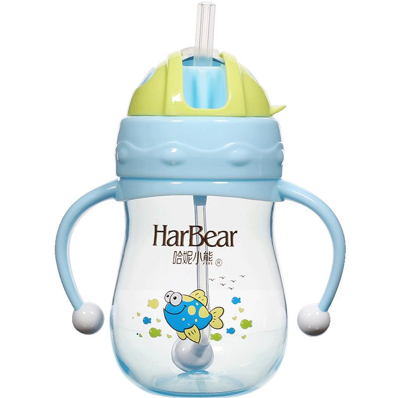 喝水带吸管宝宝1-2-3岁奶瓶杯子