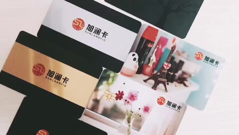 Full color printing cheap rfid plastic sample membership card with customize