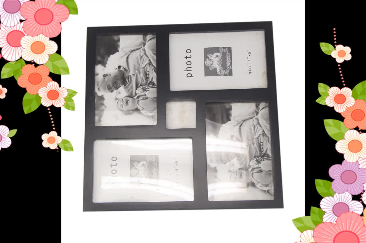 Unfinished square handmade wooden picture frames
