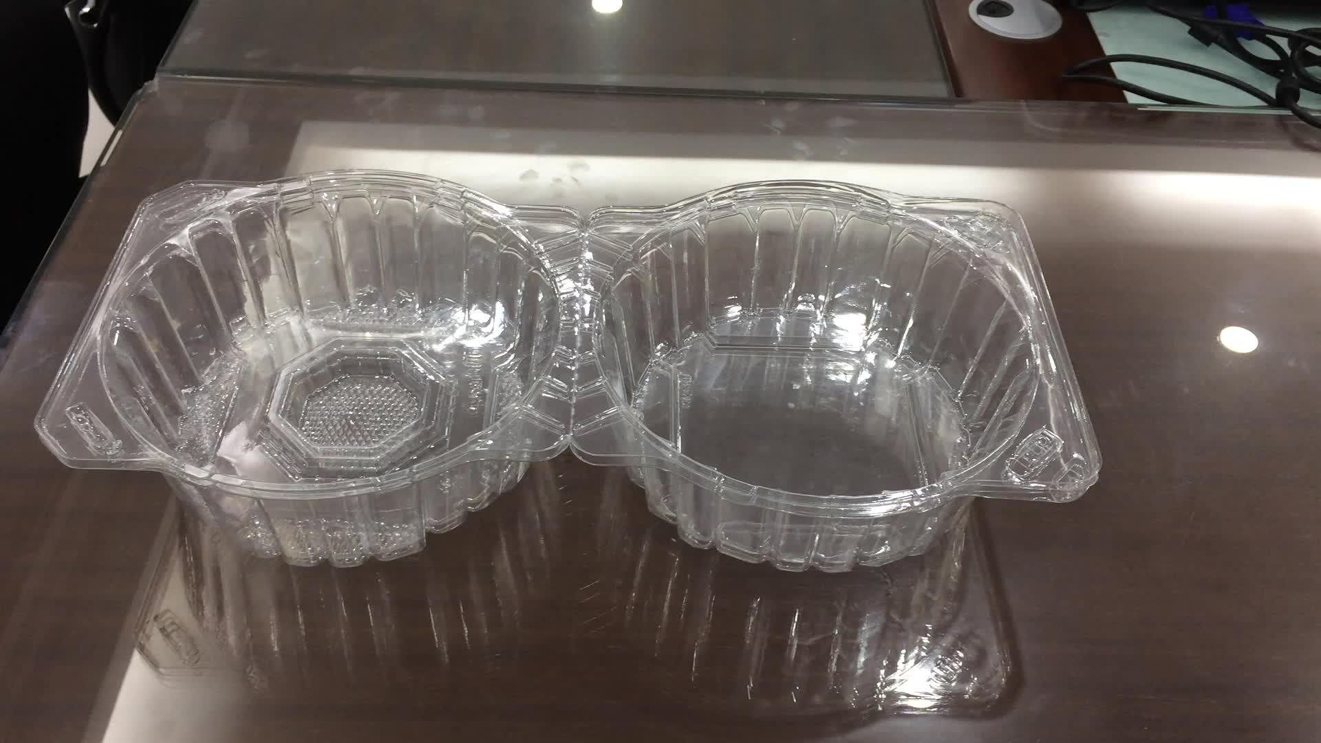 Usa e getta di Plastica Trasparente Blister Imballaggio della Copertura Superiore per la verdura Lattuga