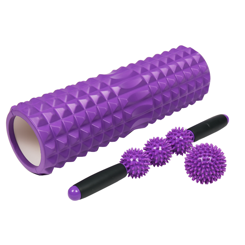 AONFIT健身按摩滚轴泡沫轴滚腿瑜伽柱狼牙棒肌肉放松滚筒轮