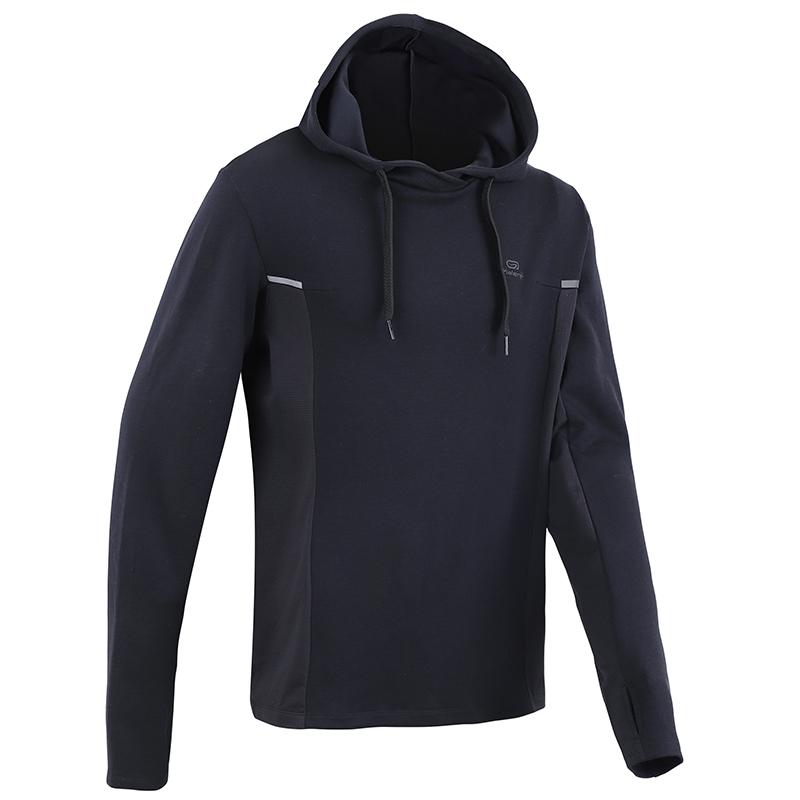 迪卡侬跑步男春季防风健身长袖卫衣用后评测