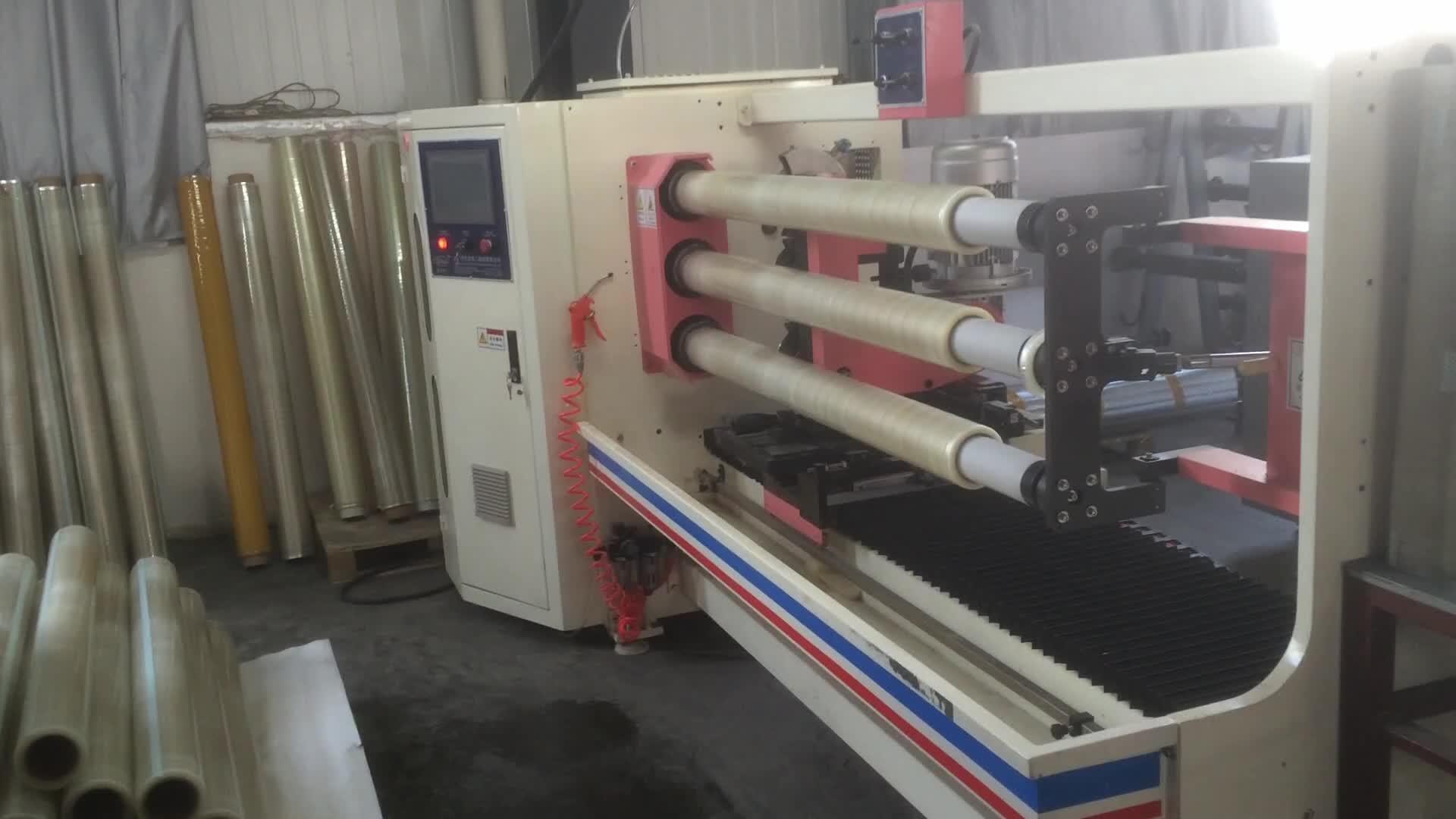 LY-708 BOPP चिपकने वाला फिल्म टेप slitting मशीन/चिपकने वाला टेप रोल कटर/पीई प्लास्टिक की फिल्म काटने की मशीन