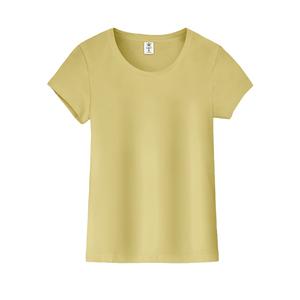 自蓝红条纹t恤女士短袖夏打底衫