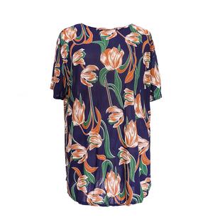 中老年女装妈妈装奶奶装夏装短袖T恤老年人宽松薄款大码洋气上衣