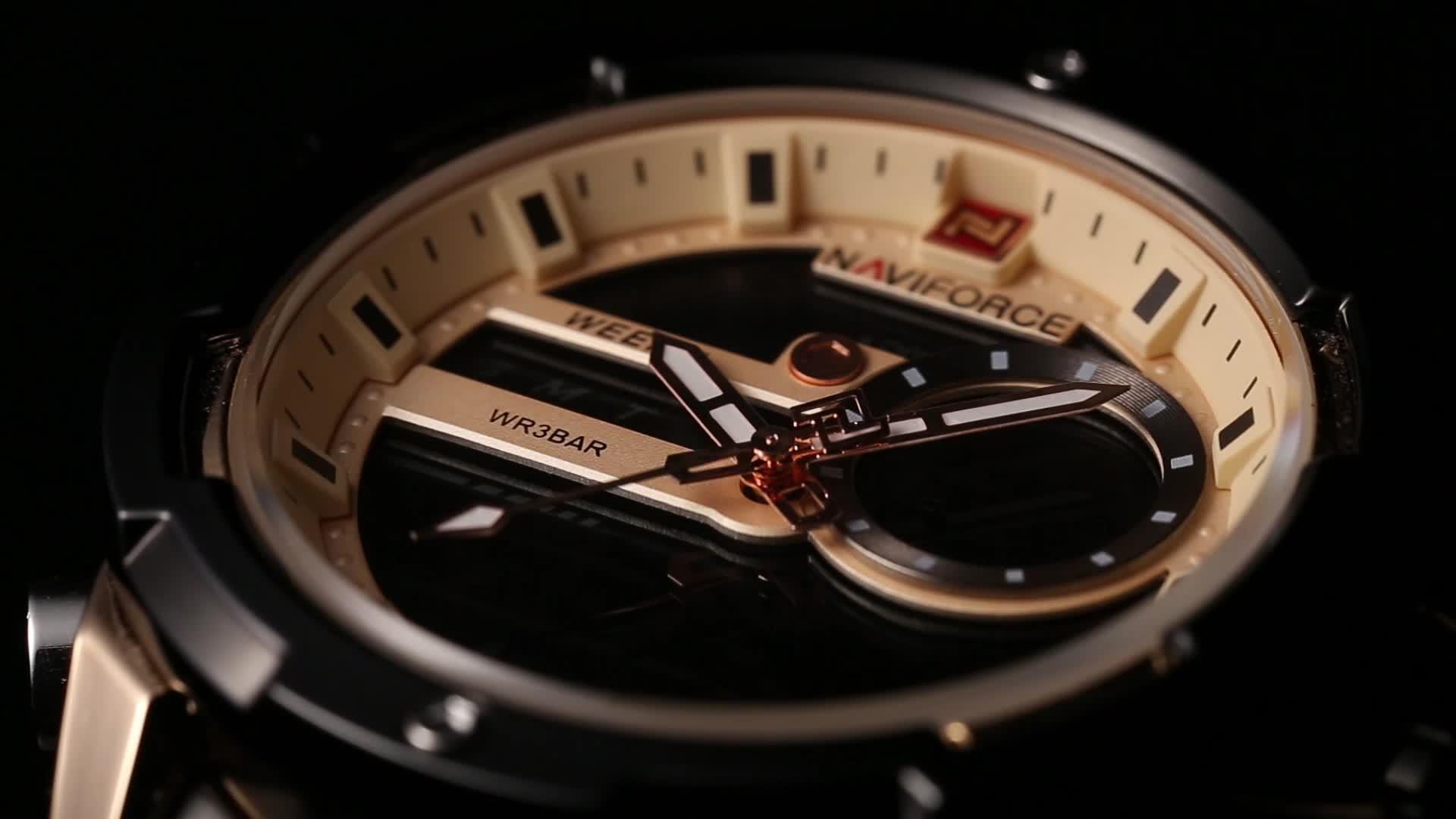 Naviforce 9120 japan movt quartz brand stainless steel watch