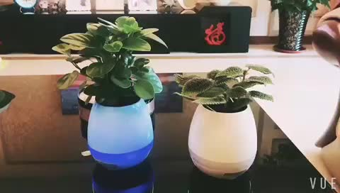 wireless mini bluetooth speaker with led light Bluetooth music vase Touch Playing the Piano vase
