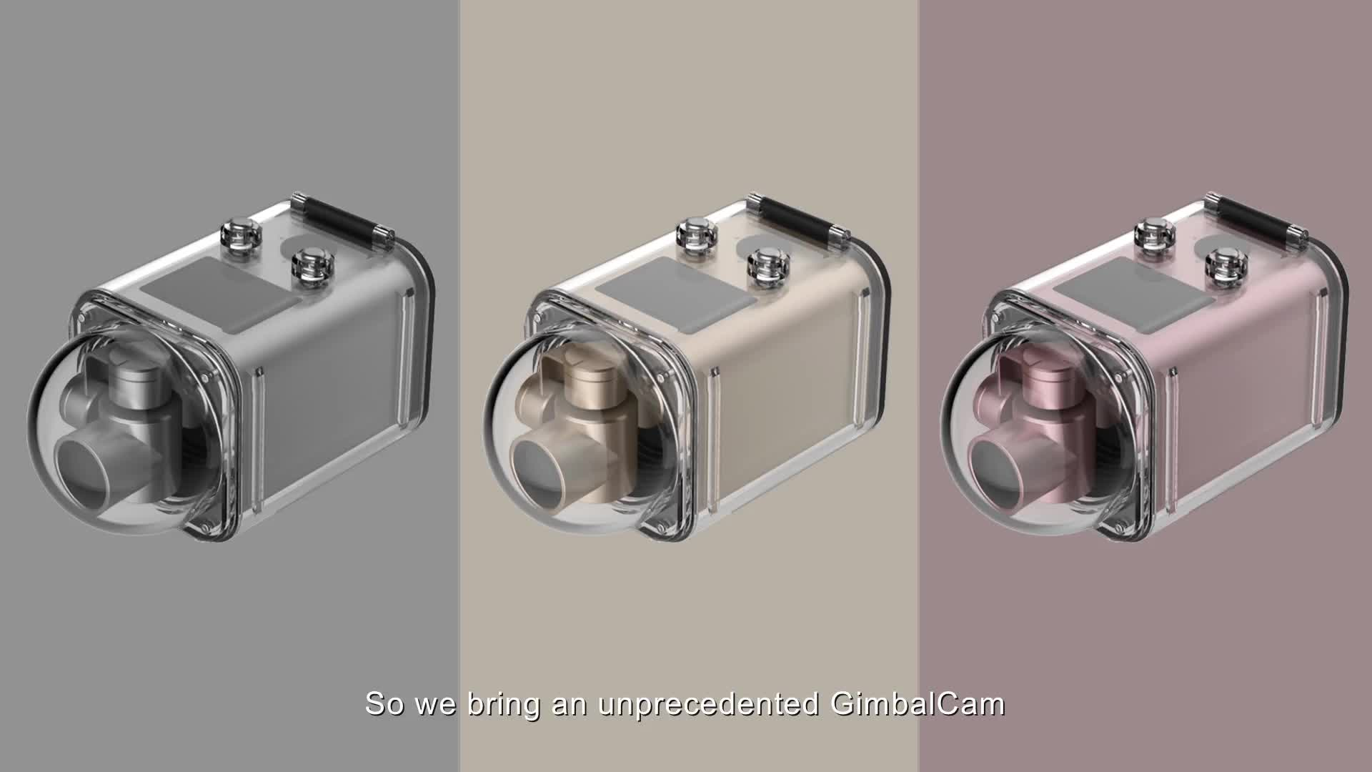 Dahili Gimbal Kamera Panoramik Kablosuz Su Geçirmez Eylem Kamera AM800A