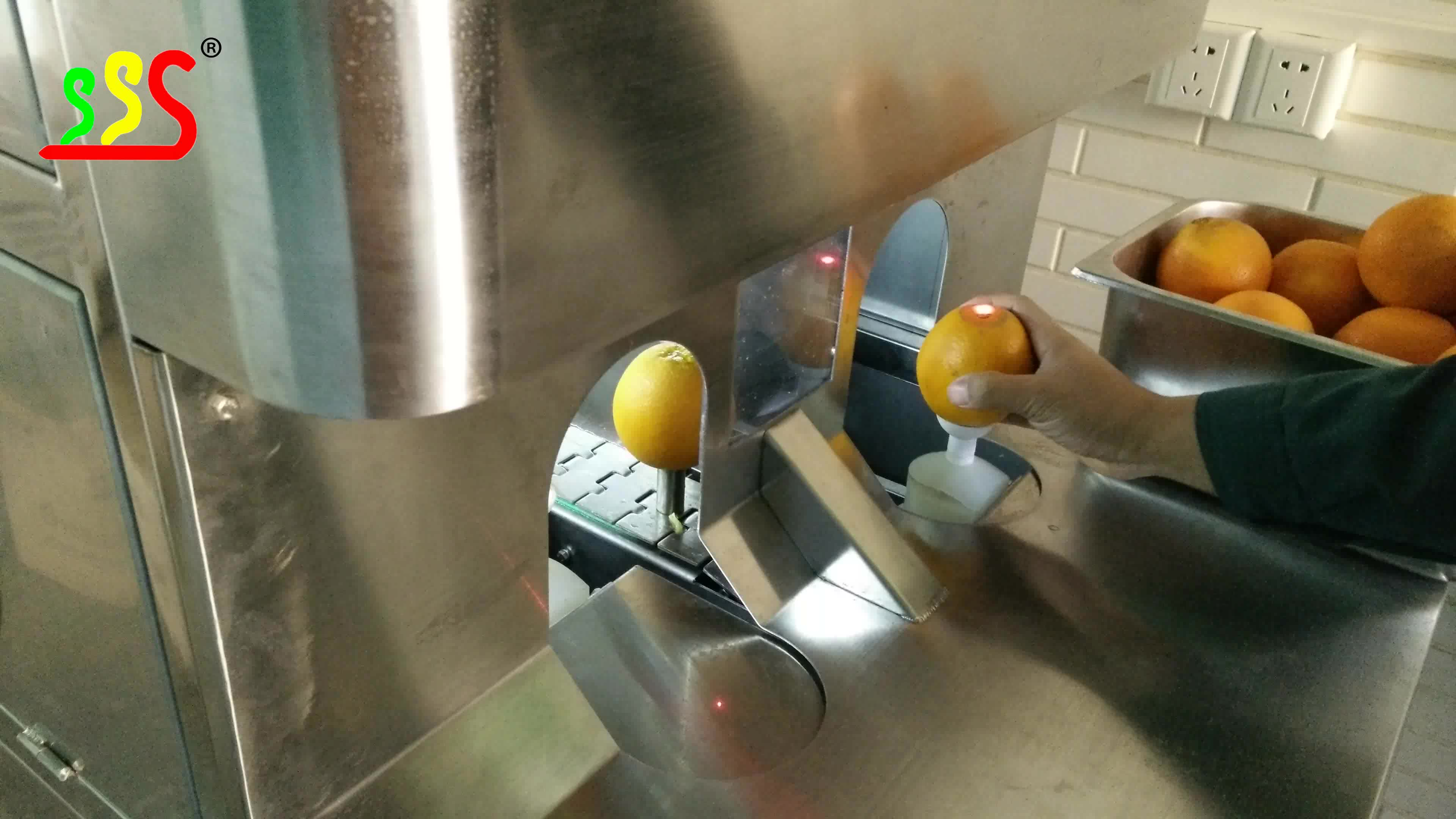 Otomatik endüstriyel meyve soyma makinesi portakal soyucu makinesi