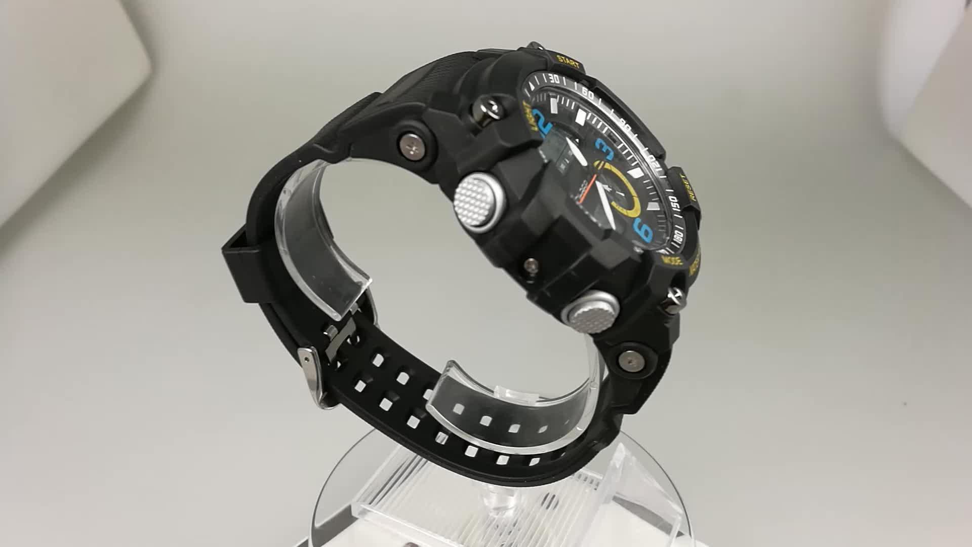 นาฬิกาดิจิตอลชายทหารทหารนาฬิกากันน้ำกีฬาดิจิตอลนาฬิกา