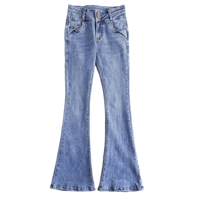 喇叭裤高腰春秋显瘦加长裤子牛仔裤质量如何