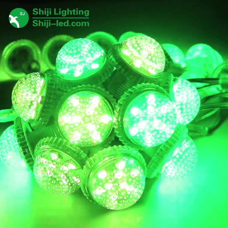 Programmable Full Color RGB 9Leds Strawhat RGB LED Pixel Light With Lock Ring led pixel 1903 ic