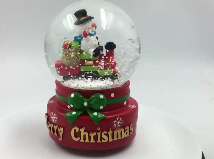 Giorno di san valentino personalizzato souvenir, del bambino di figura in resina globo di neve