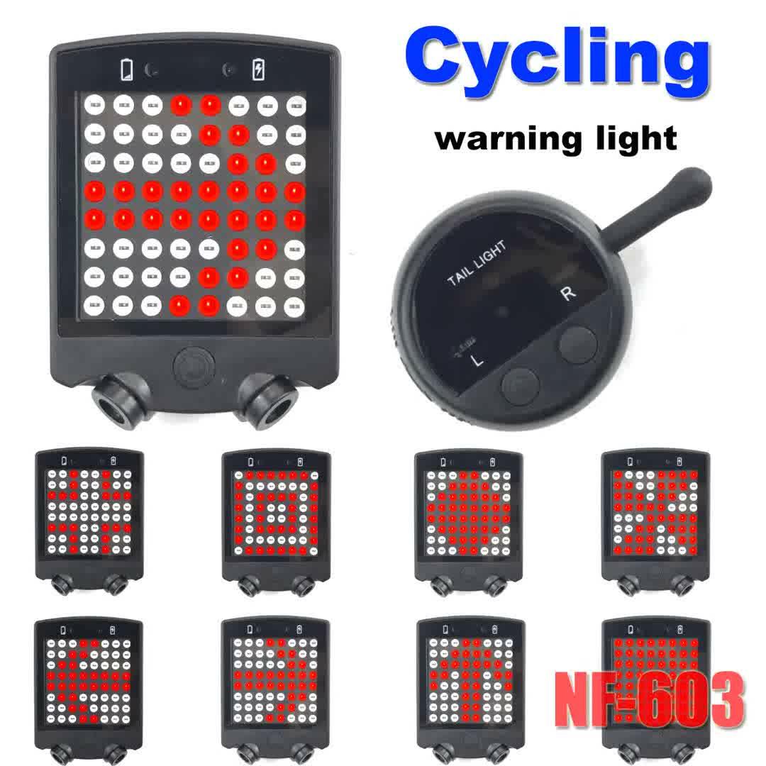 Usb 충전식 자전거 원격 무선 신호등, 야간 레이저 테일 라이트, 자전거 안전 후면 조명