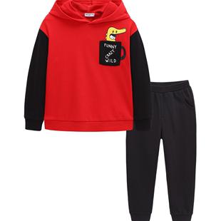 巴拉巴拉男童长袖运动套装儿童春装