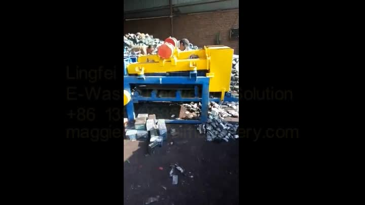 Lead acid battery crushing machine recycling equipment