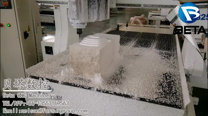 Top quality! 1325 4 axis atc cnc router machine for wood lathe mdf furniture doors