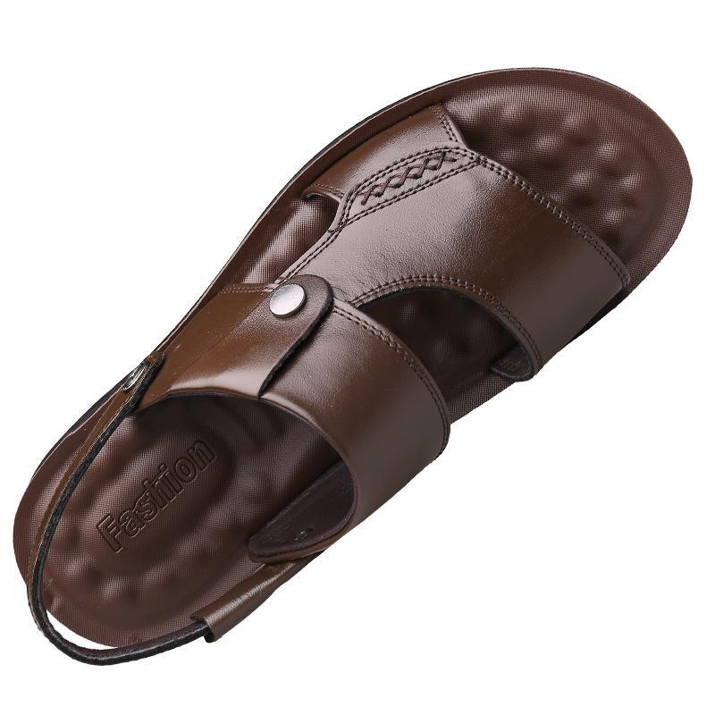 男2021夏季新款休闲真皮软底沙滩鞋能入手吗