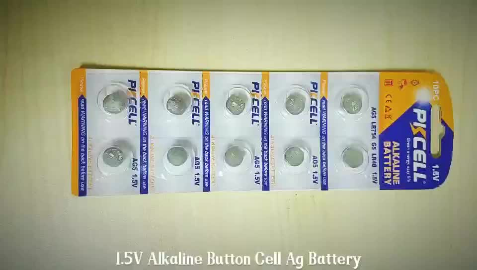 Top Selling PKCELL 1.5v ag13 a76 357 lr44 l1154 Alkaline Button Cell Battery Hearing Aid With MSDS