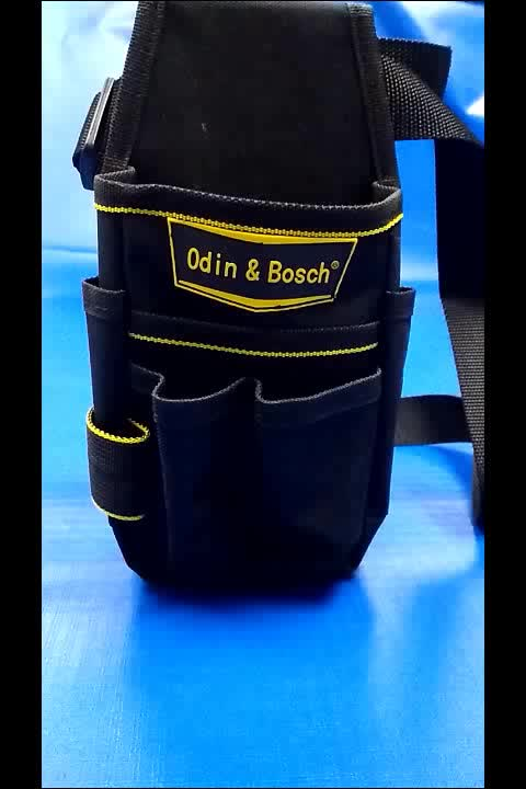 empty tool box set professional electrician waist tool bag durable, tool pouch bag, folding roll up tool bag