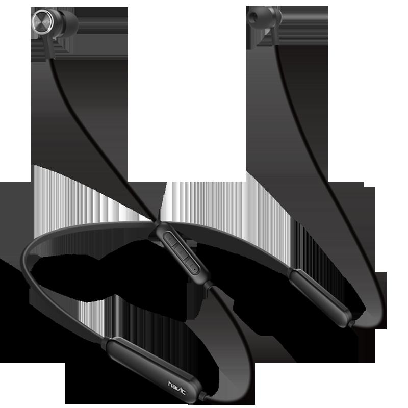 havit/海威特 I31无线运动蓝牙耳机跑步双耳入耳颈挂脖式头戴微小型适用vivo苹果iphone男女生高音质降噪oppo