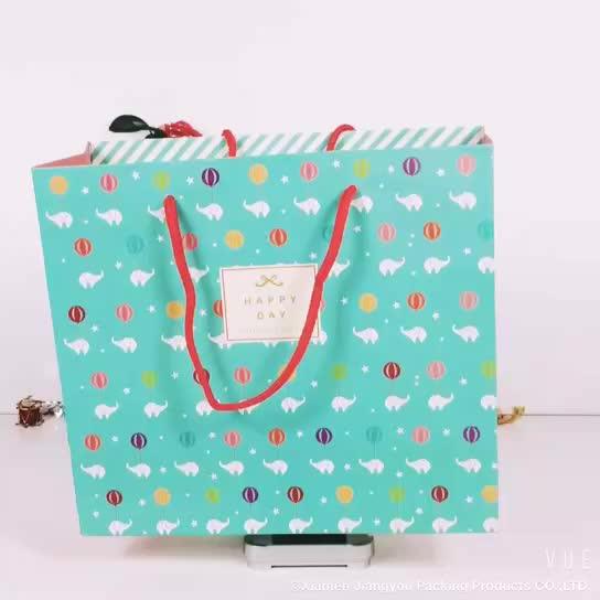 Customization 100 piece paper gift bag with shopping bag
