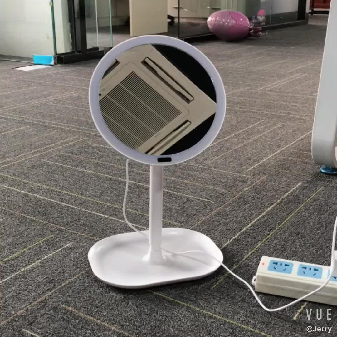 Infrarot Körper Sensor runde eitelkeit led leuchtet pedestal spiegel für make-up