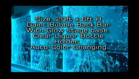 H240xW80CM 3D-Programmgesteuerte LED-Tanzblase mit Einzelbildschirm und Trennwand für private und gewerbliche Projekte