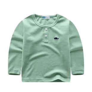 兒童T恤春秋季中大童長袖打底衫2020新款男女童寶寶休閒圓領上衣