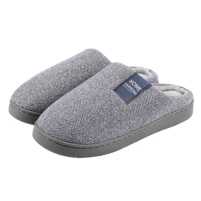 冬季棉拖鞋男士2019新款室内防滑厚底家居家用包跟毛拖鞋女秋冬天