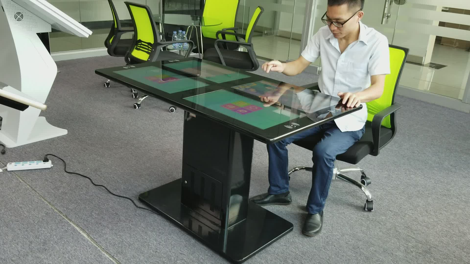 Restaurant Interactive Multi Touch Screen Coffee Game Smart Table