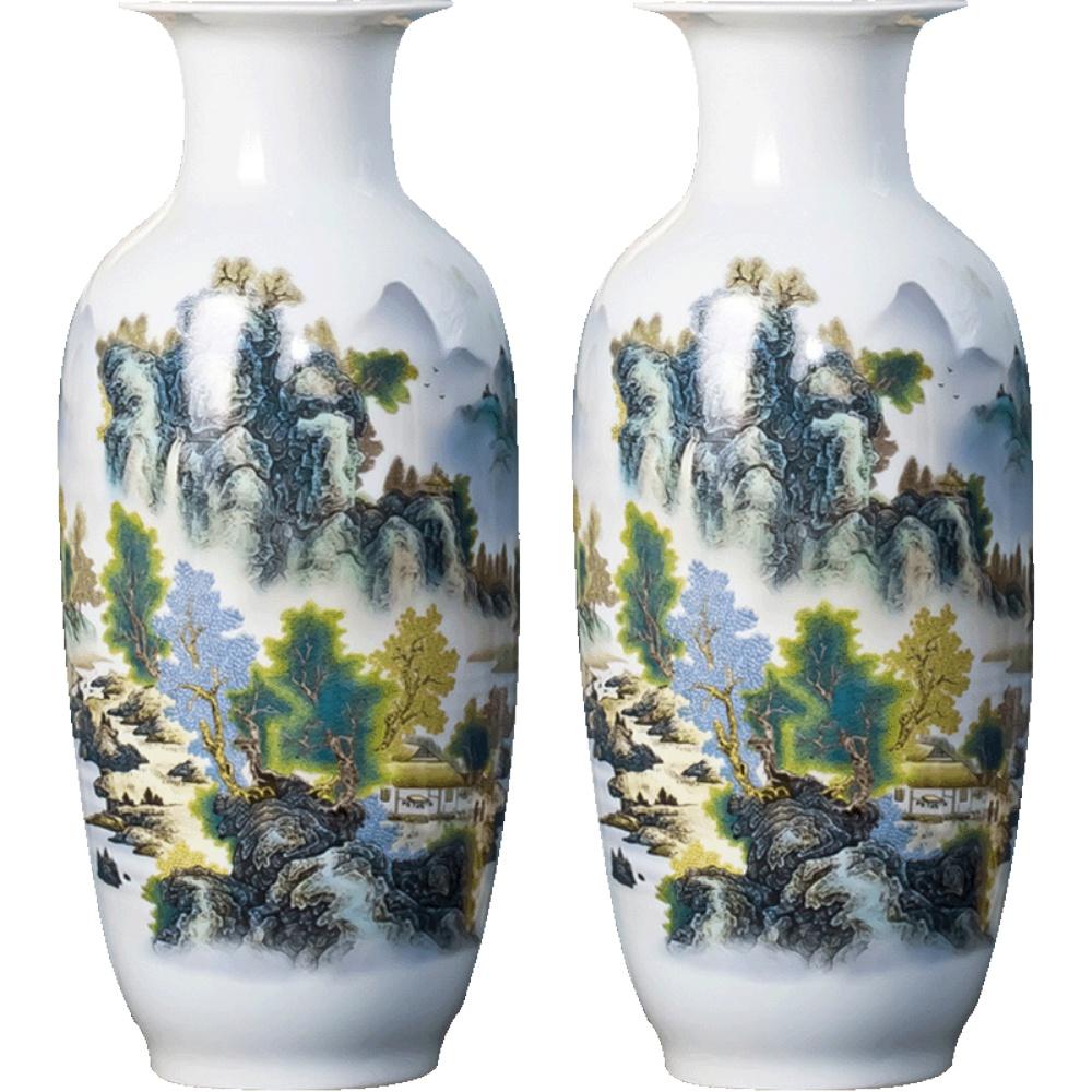 景德镇陶瓷器摆件客厅插花大花瓶评价如何
