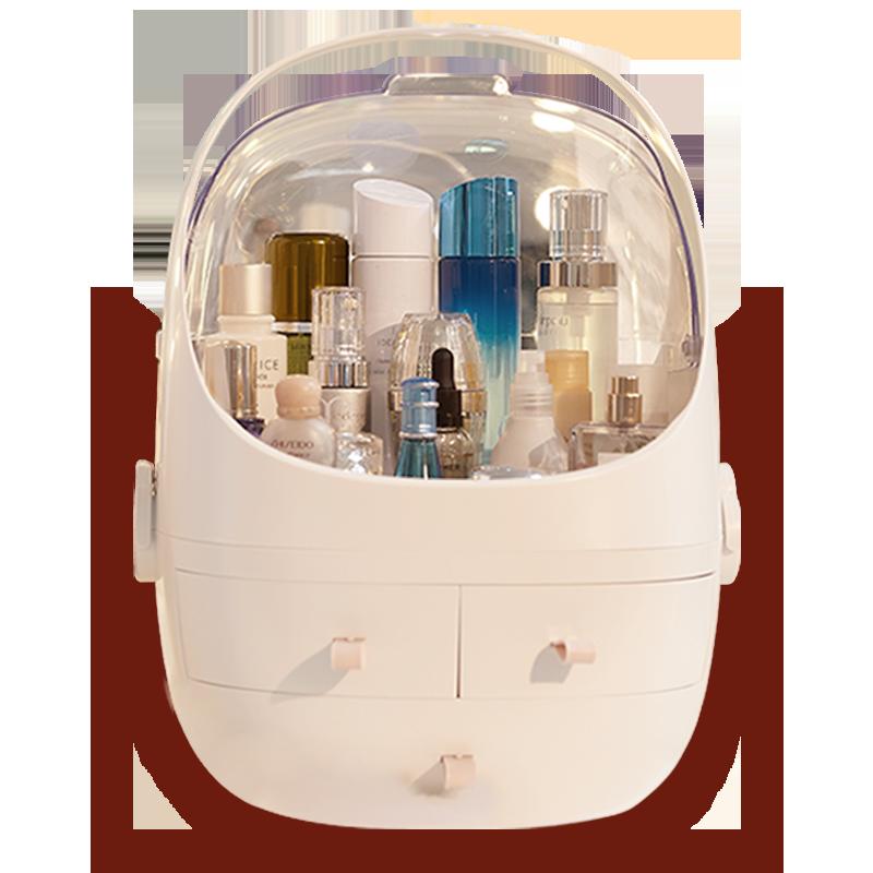 网红化妆品收纳盒置物架家用桌面欧式护肤品化妆盒收纳盒防尘有盖