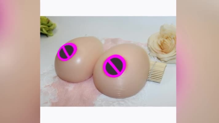 Hot Selling Sexy Silicone Breast Forms for Men Crossdresser Transgender Shemale Artificial Breast Strap on Breast