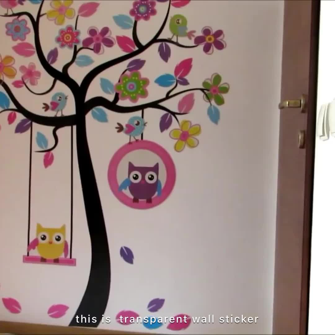 Customized non-toxic funny colorful cartoon kid wall decal