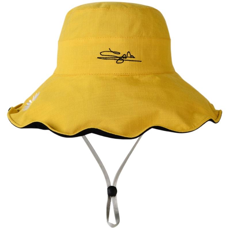 渔夫帽女春秋百搭网红款大沿遮脸防晒双面夏季遮阳大帽檐太阳帽子