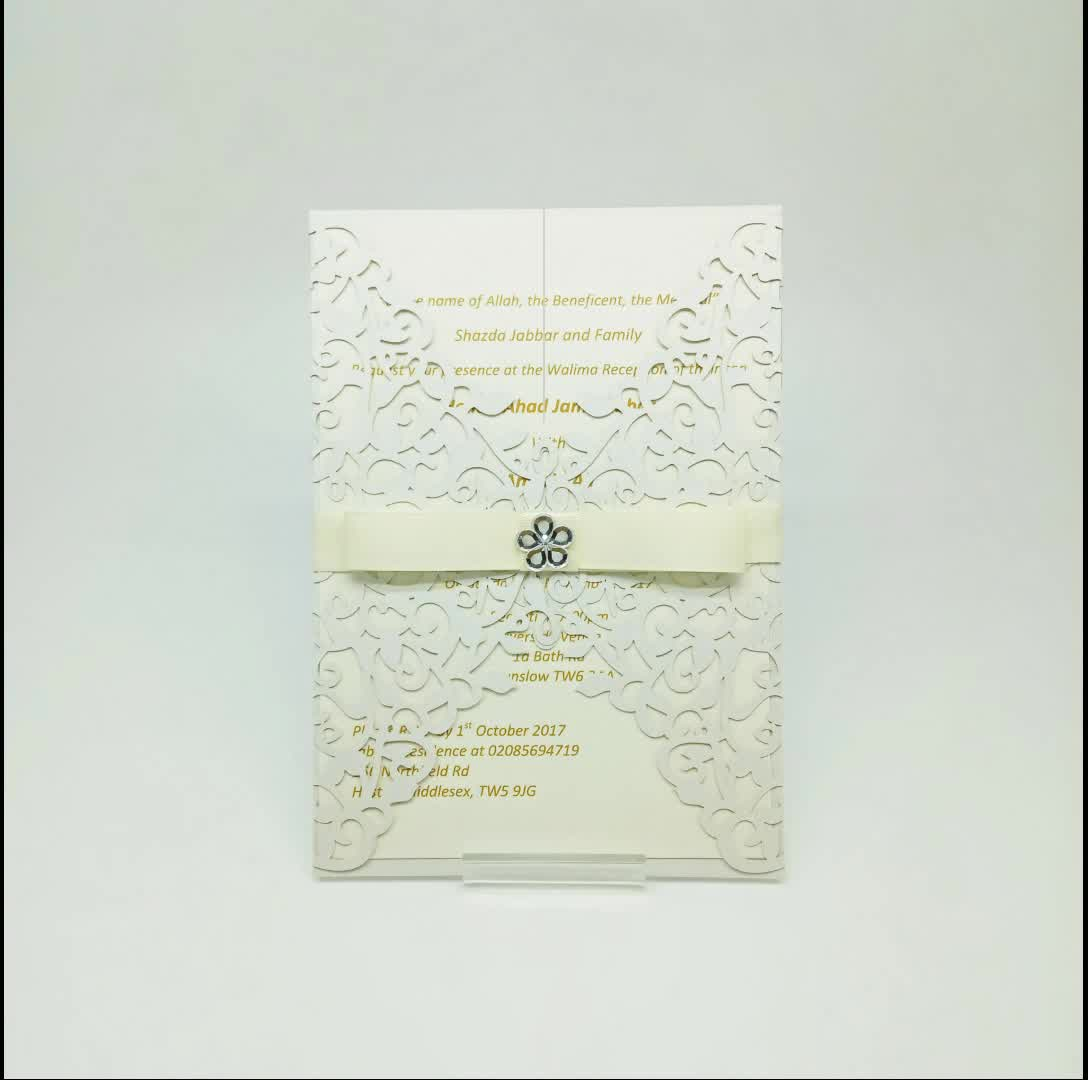 2017 Latest art paper wedding cards invitation blank wedding beautiful invitation cards printing