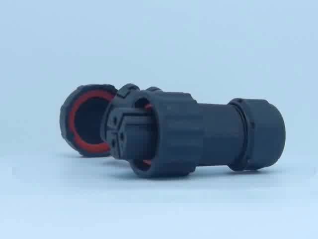 female and male waterproof 3 pin bayonet connector